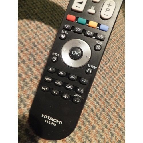 hitachi tv remote. hitachi cle-998 cle998 cle-994 cle994 tv remote control hl02472 replaces cle-993 cle993 cle-999 tv