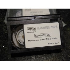 Hitachi VHS-C 7kHz Audio Alignment Tape 50HMPE-3C PAL/SECAM Monoscope Video Cassette