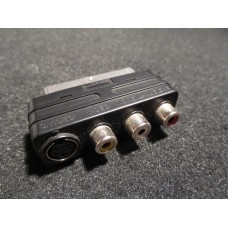 Hitachi Scart Euro Connector to RCA & S.Video Adaptor