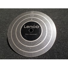 Lenco Vintage Turntable Record Player Speed Tester Strobe Disc 50Hz, 33 RPM, 45 RPM, 78 RPM
