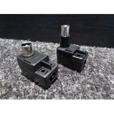 Hitachi 75 Ohm Quick Connect Coaxial Coax Cable Plugs