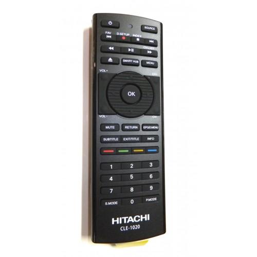 hitachi tv remote. hitachi cle-1020 cle1020 smart tv remote control with keyboard on rear for uz557000 uz6100 7 uz67000 tv